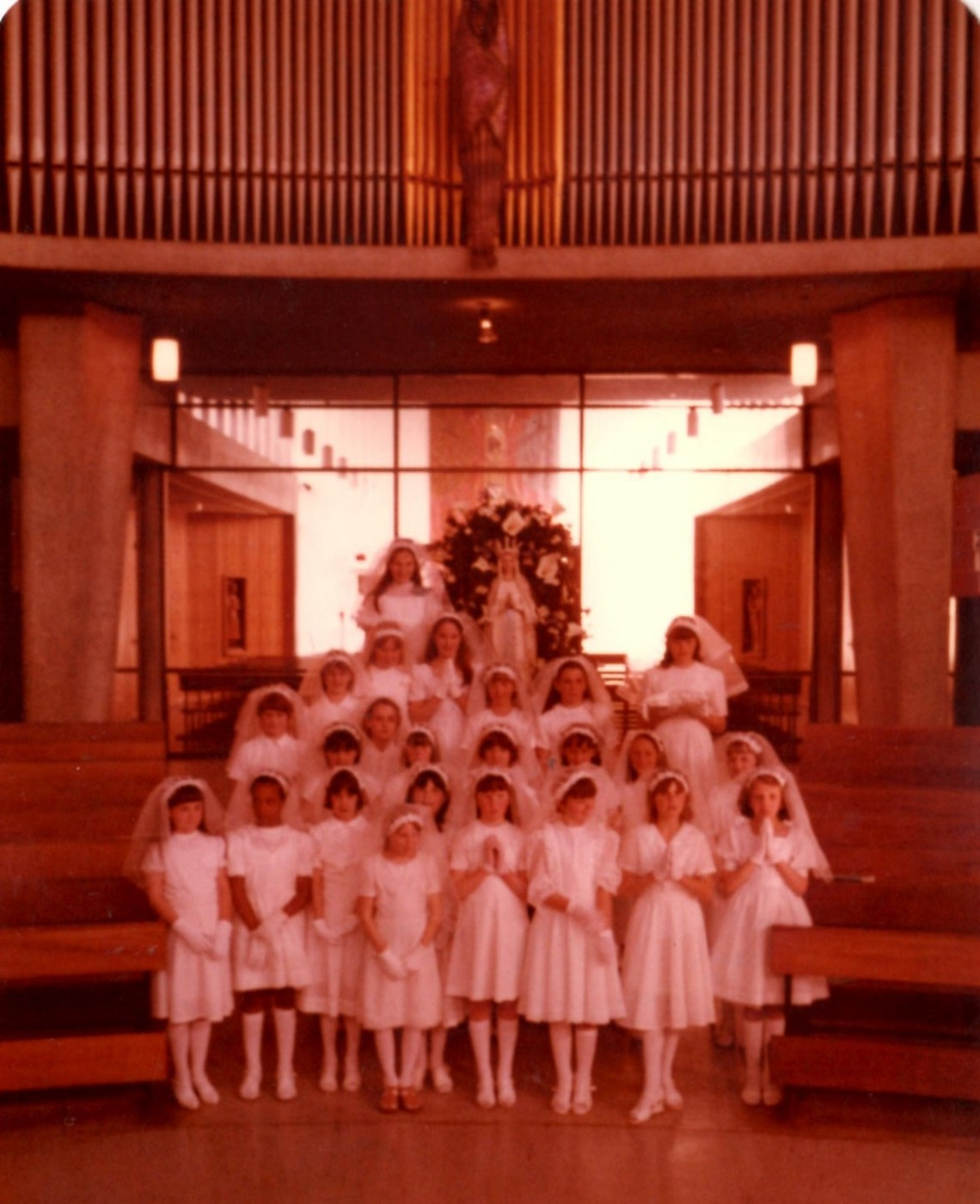 Girls at First Holy Communion
